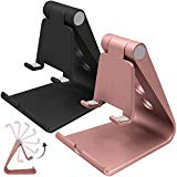 2 Packs Multi-Angle Adjustable Cell Phone Stand, SourceTon Portable Sturdy Plastic Desk Stand Mount for iPhone 7 6 6s plus 5 5s 5c charging, Kindle Fire, Android Smartphones, iPad, Tablet