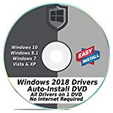 Windows Driver Software 2018 Automatic Easy Install Updater DVD Disc for Windows 10, 8, 7, Vista, & XP   Full Computers Support Dell HP Toshiba Sony Asus Lenovo Gateway Acer etc.