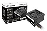 Thermaltake Smart 500W 80+ White Certified PSU, Continuous Power with 120mm cooling fan, ATX 12V V2.3/EPS 12V Active PFC Power Supply PS-SPD-0500NPCWUS-W