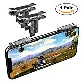 Mobile Game Controller, YOUNI Cell Phone Game Triggers - Sensitive Shoot and Aim Buttons Shooter Handgrip for Fortnite, PUBG - 1Pair(L1R1) (Silver)
