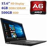 2018 Newest Premium Dell Inspiron 15.6-inch HD Display Laptop PC, 7th Gen AMD A6-9220 2.5GHz Processor, 4GB DDR4, 500GB HDD, WiFi, HDMI, Webcam, MaxxAudio, Bluetooth, DVD-RW, Windows 10-Black